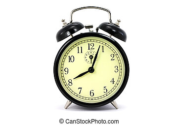 alarm clock with white background