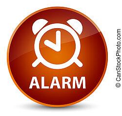 Alarm elegant brown round button