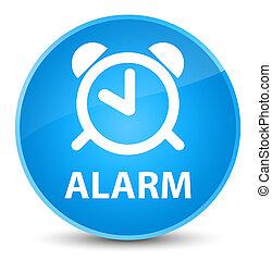Alarm elegant cyan blue round button