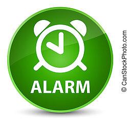 Alarm elegant green round button