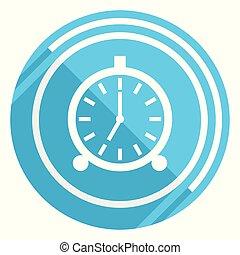 Alarm flat design blue web icon, easy to edit vector ...