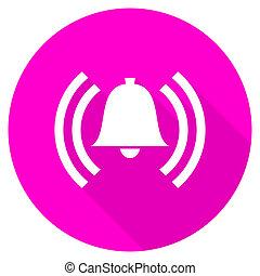 alarm flat pink icon