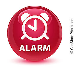 Alarm glassy pink round button