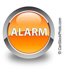 Alarm glossy orange round button