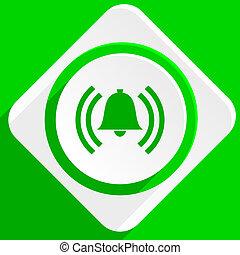 alarm green flat icon
