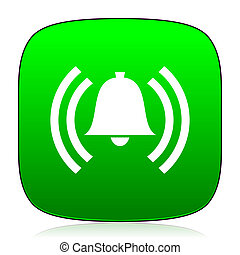 alarm green icon