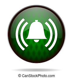alarm green internet icon