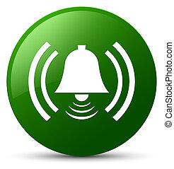 Alarm icon green round button