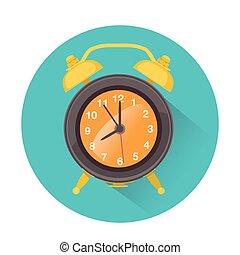 alarm icon in retro style