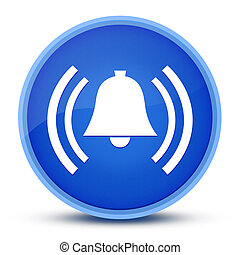 Alarm icon isolated on special blue round button abstract