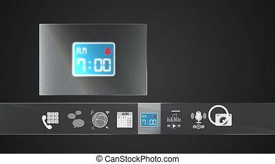 Alarm icon mobile application - Icon for mobile application...