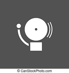 Alarm icon on a dark background