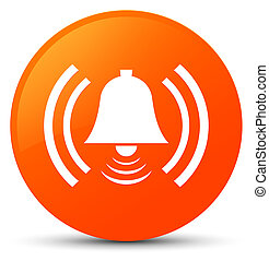 Alarm icon orange round button