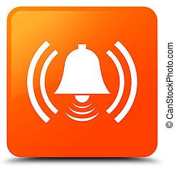 Alarm icon orange square button