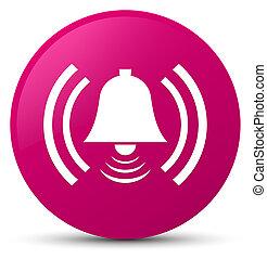 Alarm icon pink round button