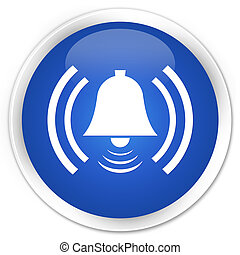 Alarm icon premium blue round button