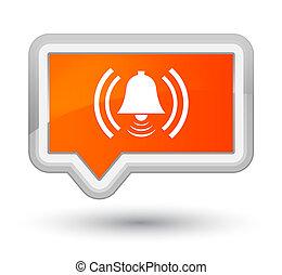 Alarm icon prime orange banner button