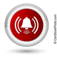 Alarm icon prime red round button