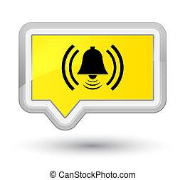 Alarm icon prime yellow banner button