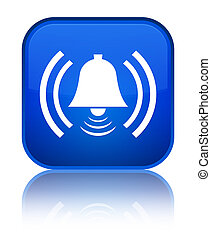 Alarm icon special blue square button