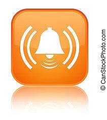 Alarm icon special orange square button