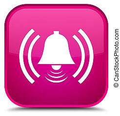 Alarm icon special pink square button