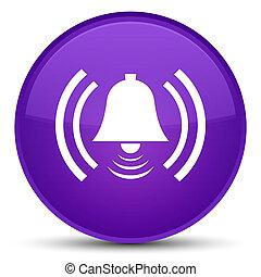 Alarm icon special purple round button