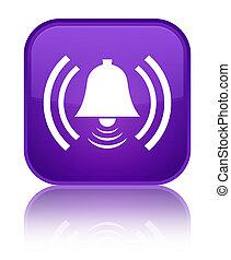 Alarm icon special purple square button