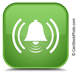 Alarm icon special soft green square button