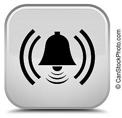 Alarm icon special white square button