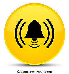 Alarm icon special yellow round button