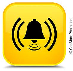 Alarm icon special yellow square button
