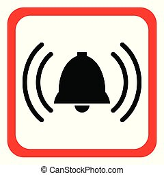 alarm icon. Vector illustration.