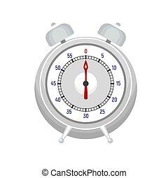 Alarm kitchen timer icon, flat style