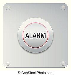 alarm, knap, panik, nødsituation