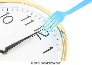 alarm, na, lunch czas, na, dwanaście, noon.