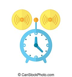 Alarm or clock icon. Vector illustration.
