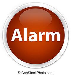 Alarm premium brown round button