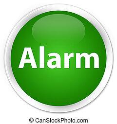 Alarm premium green round button