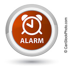 Alarm prime brown round button