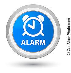 Alarm prime cyan blue round button