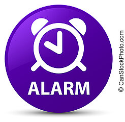 Alarm purple round button