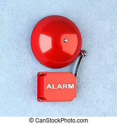 alarm, röd