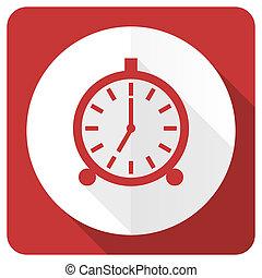 alarm red flat icon alarm clock sign