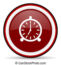 alarm round glossy icon, modern design web element