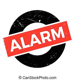 Alarm rubber stamp