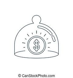 Alarm security system concept - Finance insurance concept....