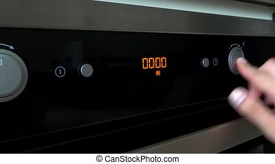 alarm setting oven cooking
