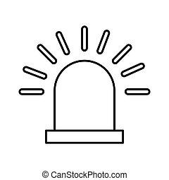 alarm siren isolated icon