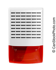 Alarm siren with flash light